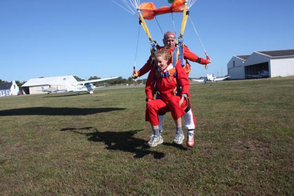 atterissage saut en parachute