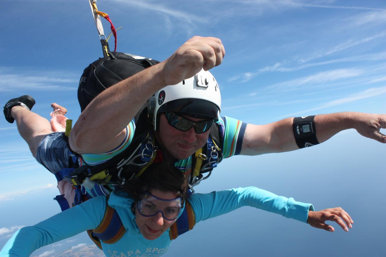 parachute biplace