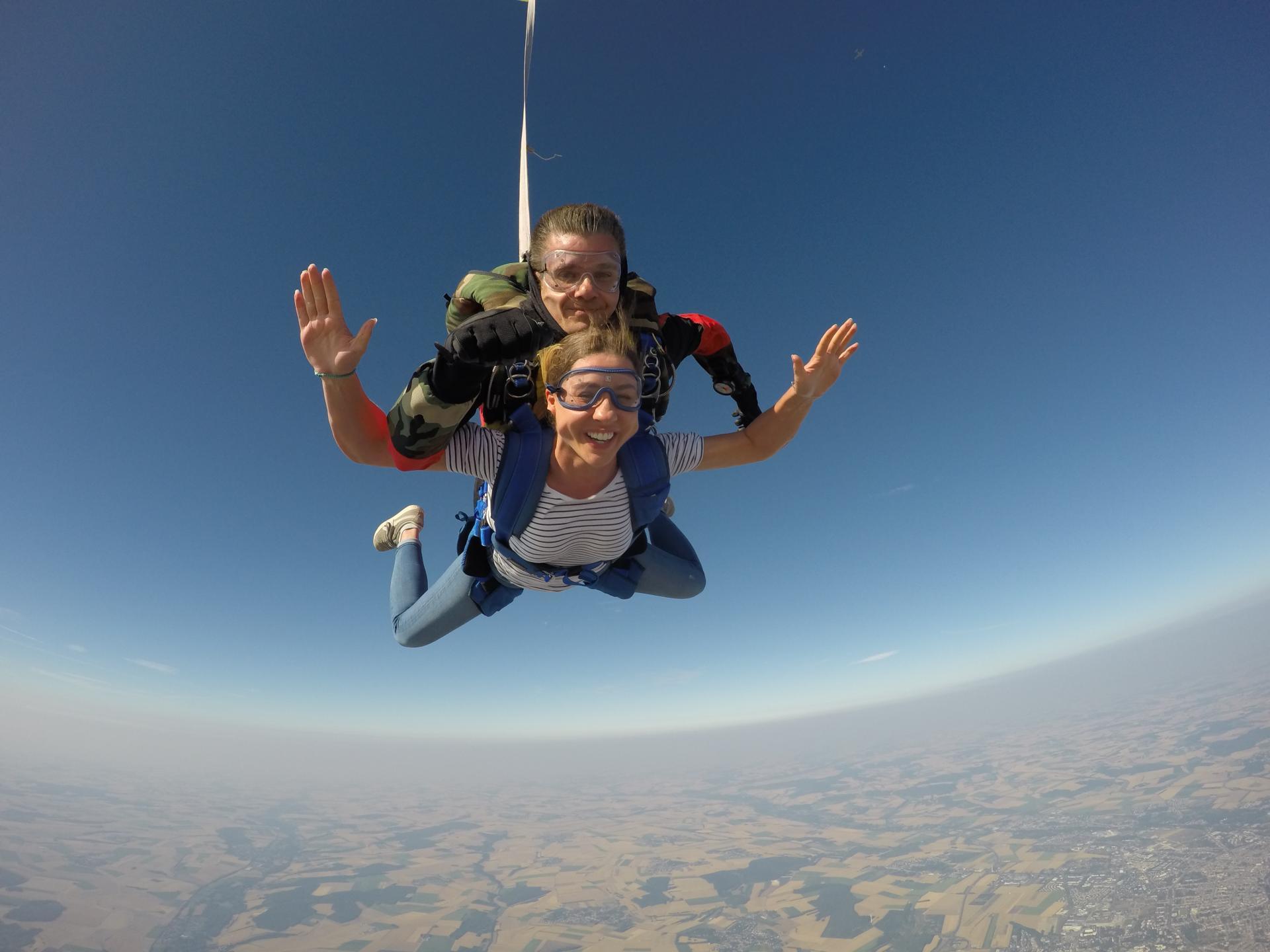 Sauter en parachute somme